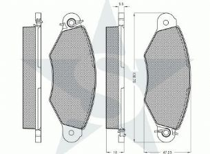 BRAKE PADS FRONT RENAULT CLIO MK2 1998 1999 2000 2001 2002 2003 2004 2005 1.2 1.4 1.5 DCI 1.6 1.9 D TD BOSCH TYPE (220)